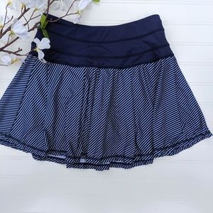 Kyodan Navy/White Striped Full Skirt Under Shorts